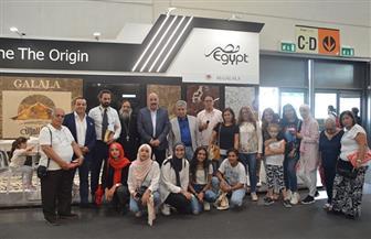 """""""الهجرة"""" تشكر الجالية المصرية في إيطاليا لدعمهم جناح مصر بـ""""معرض Marmomac """"  صور"""