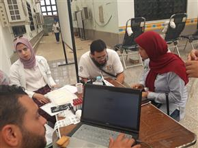 طلاب جامعة القناة يشاركون في حملة للتبرع بالدم ضمن الاحتفالات بانتصارات أكتوبر