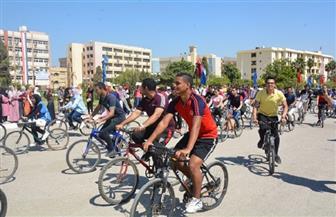انطلاق ماراثون الدراجات والمهرجان الرياضي بجامعة الفيوم | صور