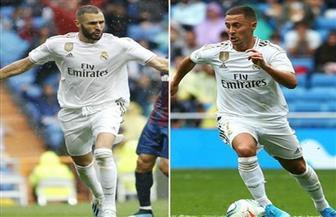 هازارد وبنزيمة يقودان تشكيل ريال مدريد أمام بروج