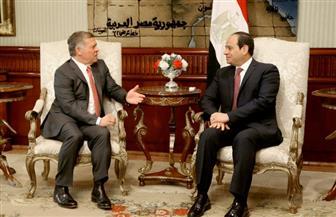 تفاصيل لقاء الرئيس السيسي والعاهل الأردني