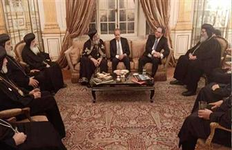 البابا تواضروس يزور السفارة المصرية بباريس | صور
