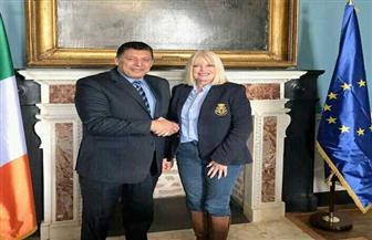 سفير مصر بدبلن يلتقي وزيرة التعليم العالي بأيرلندا