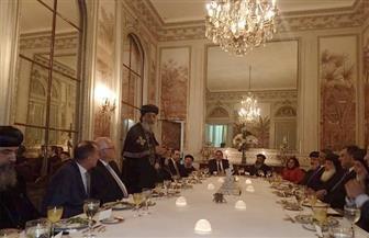 سفير مصر بباريس خلال لقاء البابا تواضروس: الكنيسة القبطية وطنية ولها مواقف مشرفة| صور