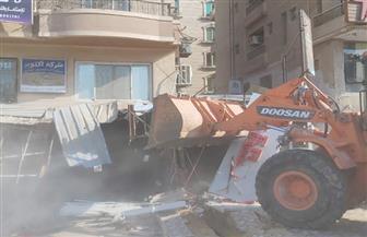 محافظة القاهرة تزيل تعديات في المنطقة التاسعة بمدينة نصر
