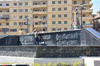الشركة المطورة لميدان أم كلثوم بالمنصورة تزيل اسمها بعد اعتراضات المواطنين | صور