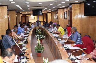 سكرتير محافظة أسوان يجتمع مع لجنة المشروعات القومية بمجلس الوزراء| صور