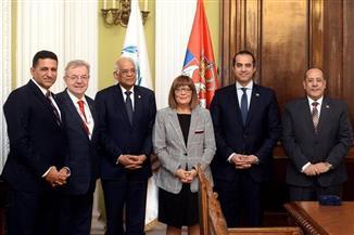 رئيس مجلس النواب يبحث التعاون الثنائي مع رئيسة الجمعية الوطنية الصربية