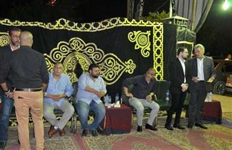 هند صبري ولطيفة تتلقيان عزاء المخرج التونسي شوقي الماجري في مسجد فريد شوقي |صور