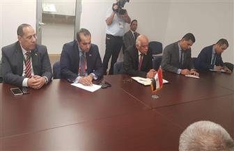 عبدالعال يلتقي رئيس المجلس الشعبي الوطني الجزائري | صور
