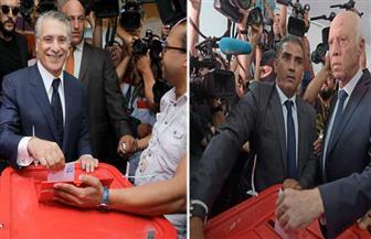 قيس سعيد ونبيل القروي يدليان بصوتيهما في انتخابات الرئاسة التونسية |صور