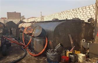 ضبط 150 طنا من زيوت السيارات المستعملة قبل إعادة تدويرها بالإسكندرية
