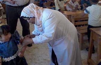 تنفيذ حملة التطعيم بالمدارس بقرية الجفجافة بوسط سيناء | صور
