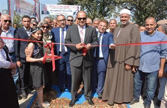محافظ الغربية يفتتح مشروع الصرف الصحي بقرية بلاي فى السنطة | صور