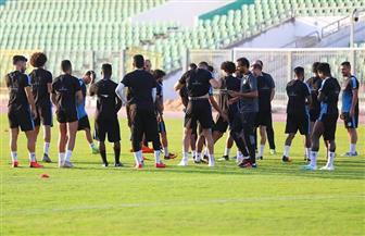 المصري يواصل استعداداته لمواجهة مصر المقاصة | صور