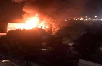 الحماية المدنية تكثف جهودها للسيطرة على حريق كنيسة مارجرجس بحلوان