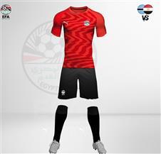 المنتخب المصري بالزي الأحمر أمام بتسوانا وديا اليوم