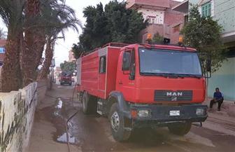 السيطرة على حريق في 3 منازل بمركز العسيرات في سوهاج