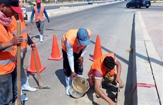 تطهير بالوعات الأمطار وتطوير محيط قاعة مؤتمرات الأزهر بمدينة نصر