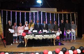رئيس جامعة كفر الشيخ يشهد حفل استقبال طلاب كلية التجارة الجدد | صور