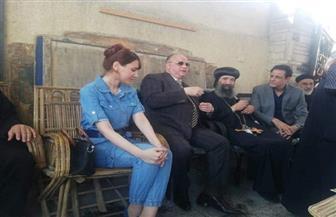 محافظ القاهرة وأسقف حلوان يتفقدان كنيسة مارجرجس بشرق حلوان
