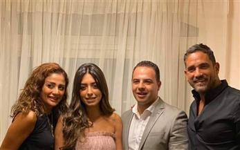 أمير كرارة يحتفل بخطوبة شقيقته نور