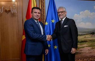 سفير مصر ببلغاريا يلتقي رئيس شمال مقدونيا ورئيس الوزراء ونائب وزير الخارجية| صور