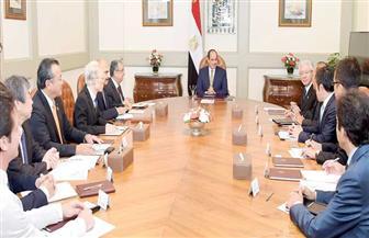 تفاصيل لقاء الرئيس السيسي مع رئيس شركة تويوتا اليابانية وسفير اليابان بالقاهرة