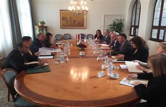 وزير الخارجية يناقش مع نظيره الكرواتي سبل التعاون السياسي والاقتصادي بين البلدين| صور