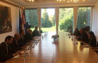 """رئيسة كرواتيا تستقبل وزير الخارجية سامح شكري في ختام زيارته لـ""""زغرب"""""""