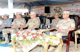 وزير الدفاع يشهد المرحلة الرئيسية للمناورة «رعد 31» مع الرماية بالذخيرة الحية |صور