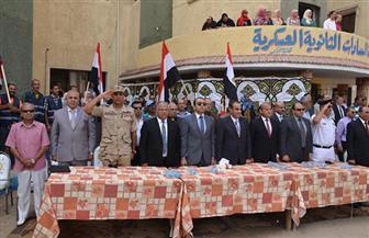 نائب محافظ الإسماعيلية يشهد احتفال مدرسة السادات الثانوية العسكرية بالعيد القومي للمدينة | صور