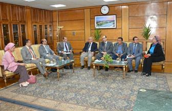 الجمال يستقبل لجنة تقييم الجامعات ضمن المسابقة الرئاسية لاختيار أفضل جامعة مصرية | صور