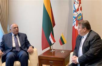 وزير الخارجية يبدأ جلسة مباحثات مع نظيره الليتواني بالعاصمة فيلنيوس| صور