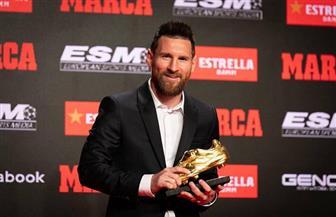 ميسي يتسلم جائزة الحذاء الذهبي للمرة السادسة في مسيرته| فيديو وصور