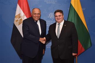وزير الخارجية يعقد مباحثات مع نظيره الليتواني بالعاصمة فيلنيوس |صور