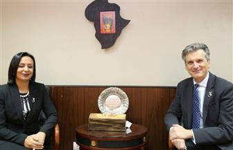 مايا مرسي خلال لقائها مع سفير بريطانيا: مصر تعمل على نشر الوعي بمفهوم الشمول المالي للمرأة | صور
