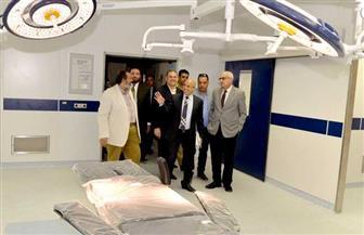 رئيس جامعة المنصورة يتفقد تجهيزات مركز جراحة القلب والصدر | صور