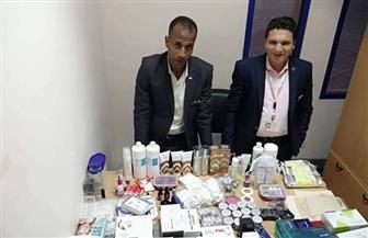 إحباط محاولة تهريب كمية من الأدوية البشرية ومستحضرات التجميل بمطار مرسى علم