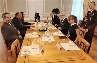 رئيس لاتفيا يستقبل وزير الخارجية لمناقشة العلاقات الثنائية بين البلدين|صور