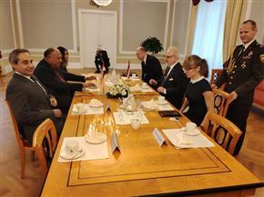 وزير الخارجية يجدد تأكيد حرص مصر على تطوير العلاقات مع دول البلطيق |صور