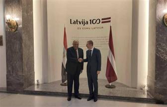 سامح شكري يوقع اتفاقية إعفاء تأشيرات الدخول لحاملي جوازات السفر الدبلوماسية بين مصر ولاتفيا| صور