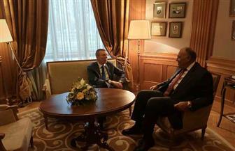 سامح شكري يعقد مباحثات مع وزير خارجية لاتفيا | صور
