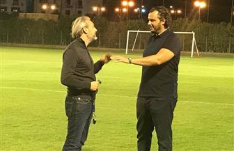 ممدوح عيد يتواجد في تدريب بيراميدز ويحفز اللاعبين