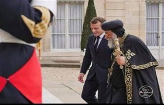 الرئيس الفرنسي يستقبل  البابا تواضروس في قصر الإليزيه| صور