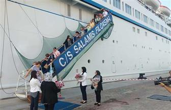 بعد توقف 10 سنوات.. ميناء الإسكندرية يستقبل سفينة قبرصية على متنها 500 سائح  صور