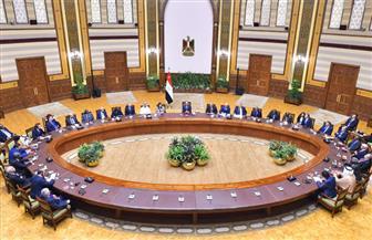 الرئيس السيسي يستقبل رؤساء المحاكم الدستورية والعليا المشاركين في احتفالية العيد الذهبي للقضاء الدستوري
