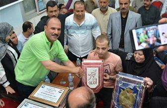 """""""مستقبل وطن"""" بالشرقية يحتفي بالجندي البطل أحمد فوزى"""