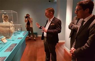 سفير مصر في هولندا يشارك بحفل افتتاح معرض المصريات بجامعة أمستردام | صور