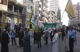 انطلاق مولد إبراهيم الدسوقي ومسيرة صوفية بشوارع دسوق حتى المسجد الإبراهيمي | صور